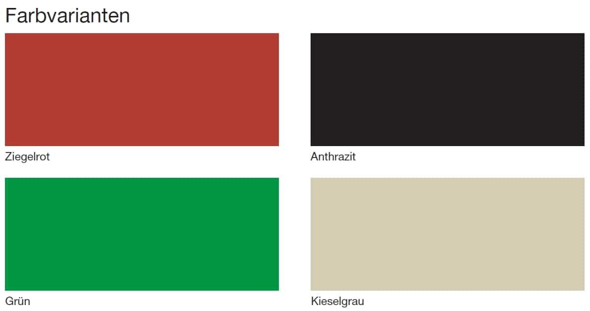 Farbmuster bei Dachbeschichtungen